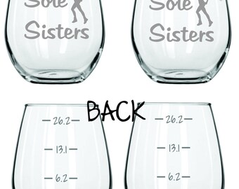 Sole Sisters Running Runner Glass  FREE Personalization