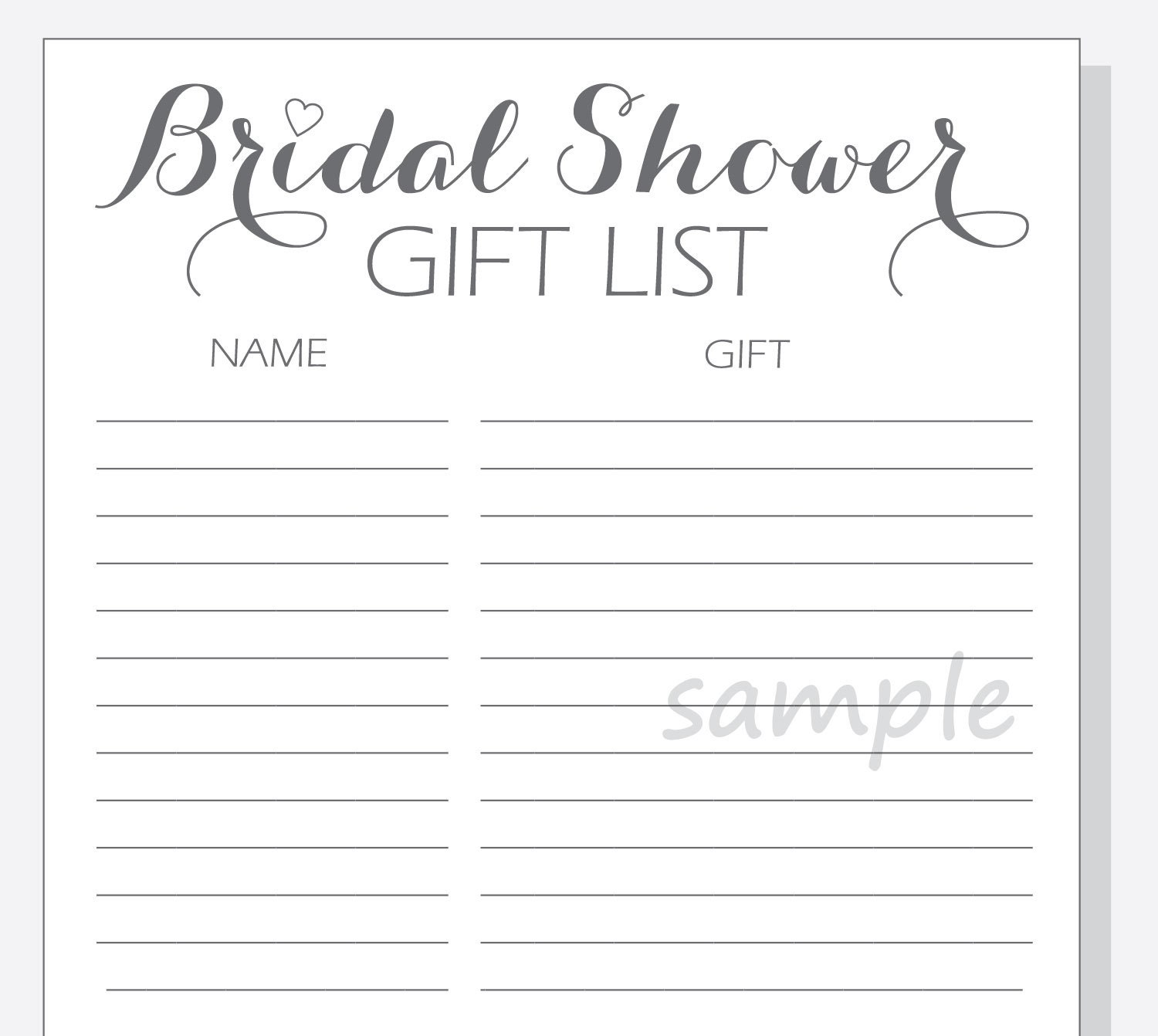 wedding gift list excel template - 28 images - best photos of ...