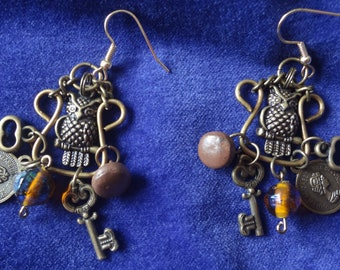 Charm Earrings - Surgical Steel Ear Wires - Atlantic Rock Threads
