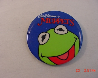 Vintage Jim Henson's Muppets Pin Back Button  18 - 767
