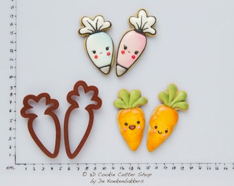 Carrot / Piping Bag Cookie Cutter Set