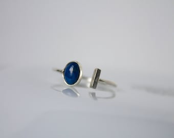 Lapis Lazuli Adjustable Ring - Ring Cuff - Ring Stone - Blue Stone Ring - Made to order