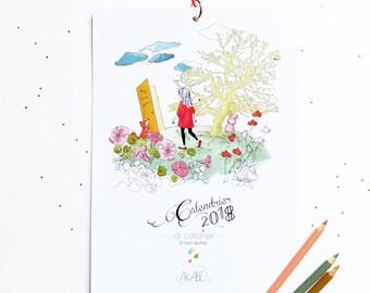 SOLDE / SALE! Calendrier coloriage 2018 / Calendar coloringbook 2018