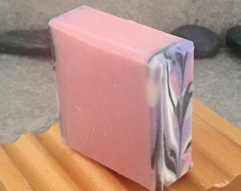 Market Florals Square Cold Process Soap in Pink