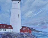 Watercolor Portland Headl...