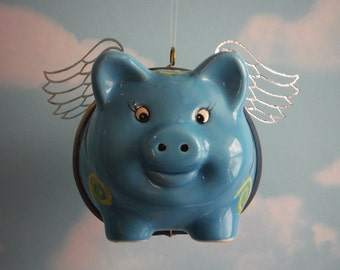 When Pigs Fly, Flying Pig in Blue