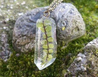 Real Fern Pendant - Resin Crystal Necklace - Fern Necklace - Fern Leaf - Resin Jewelry - Pressed Flower Necklace - Gifts For Her - Nature