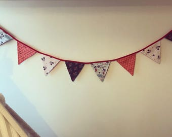 Mickey Mouse fabric bunting