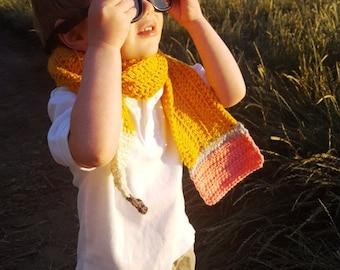 Pencil Scarf: TEACHER GIFT, Toddler Gear, Scarf, Costume, Preschool, First Day of School Gift, Kids Scarf