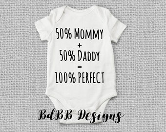 100 Percent Perfect Baby Onesies / Baby Girl Clothes / Take Home Outfit / Funny Baby Clothes / 100% Perfect Baby Onesie / Hospital Outfit