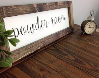 Powder Room Farmhouse Sign