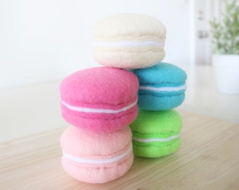 Felt Food - Felt Macaron - Felt Macaroon - Pretend Play - Pretend Food -  Play Food - Pretend Felt Food - Play Felt Food - Toy