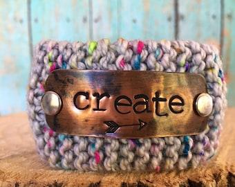 Custom Hand Stamped Bracelet, Inspirational Bracelet, Scripture Jewelry, Wrist Tattoo Cover, Create in me a Pure Heart