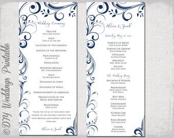 Wedding Program Template Coral Wedding Program DIY Lace - Wedding invitation templates: wedding order of service template