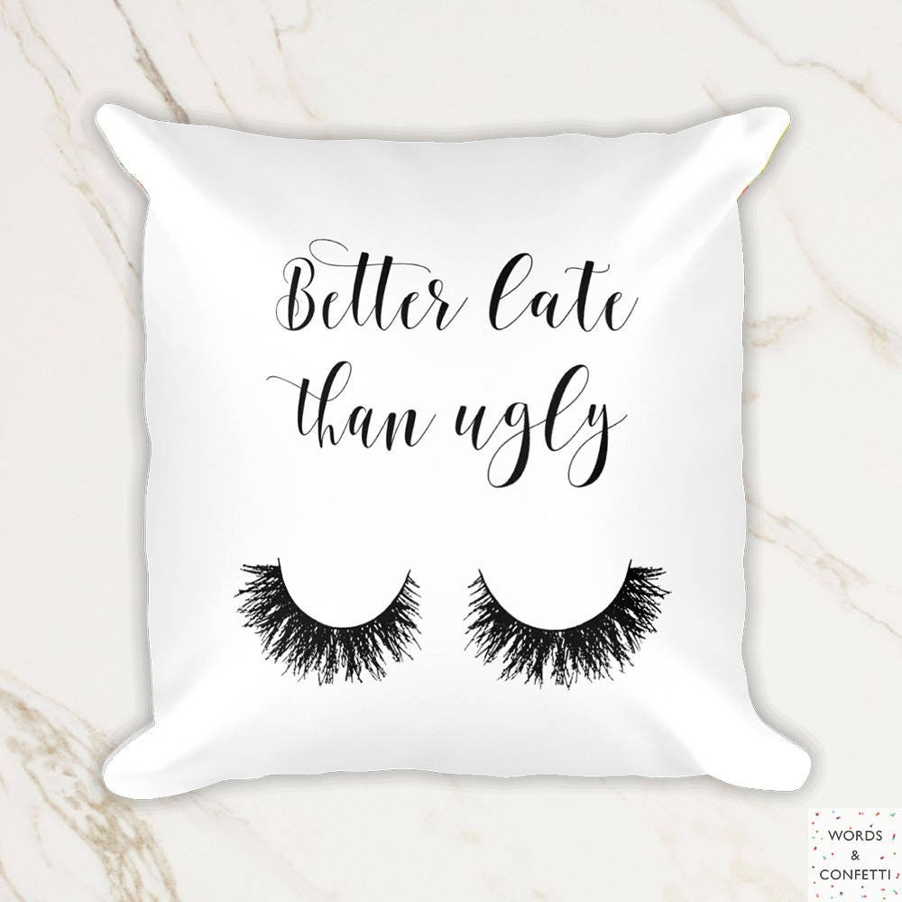 Makeup Pillow Case Lashes Decor Gift For Her Eyelash