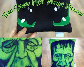 Movie Lover Gift - Frankenstein  and Dragon Eyes Mini Pillow - Doubled Sided Pillow - Christmas Gift Idea - Kids Toothless Dragon Pillow
