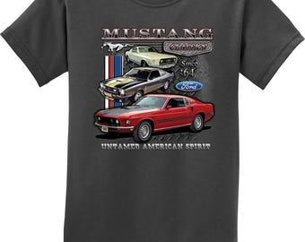 bd4a3bab60b6c Kid s Ford Classic Mustangs Untamed Tee T-Shirt 21286D1-PC61Y