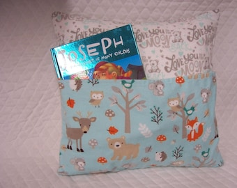 Woodland Critters Reading Book Pillow 14X14