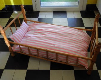 Antique Doll bed style Napoléon 3