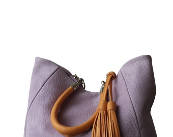 Tote bag, Violet bag, violet leather bag, shopping suede bag, suede bags, luxe bags, art bag, Ultra violet bag, suede violet bag, tote suede