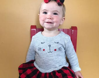Buffalo Plaid Bow