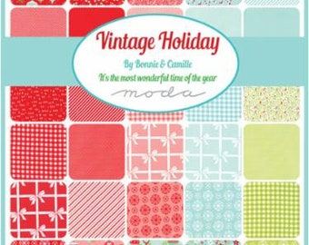 PRE-RELEASE Vintage Holiday by Bonnie & Camille for Moda 2 Charm Square Packs