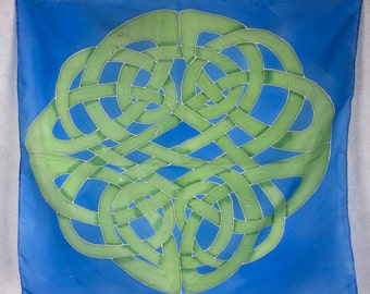 Green and Blue Knotwork Tarot or Altar cloth