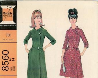 Original Vintage McCalls Sewing Pattern - 8560 ca.1966 - UNCUT - FACTORY FOLDED