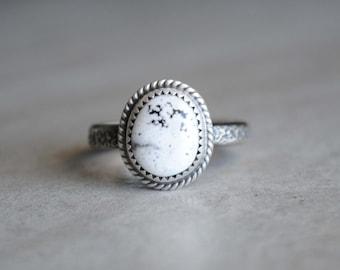 SIZE 10, White Buffalo Ring, White Buffalo Jewelry