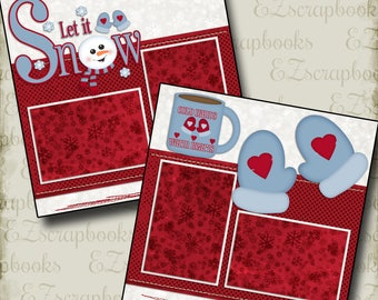 COLD HANDS Warm Heart - 2 Premade Scrapbook Pages - EZ Layout 36