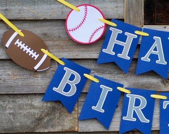 All Star Sports Birthday Party Banner, All Star Sports Banner, Sports Party, Sports Baby Shower
