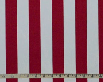 Kiyohara Red/White Stripe Medium Weight Canvas - Japanese - Choose your cut