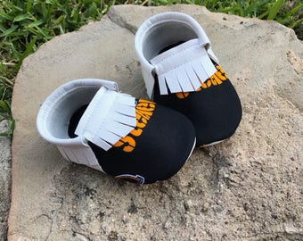 Pittsburgh Steelers - Baby Moccs- Baby Moccasins by TexasMoccs