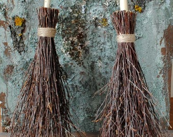 Witches broom Birch branches Rustic home decor Rustic wedding decor Wiccan besom Magic altar cleansing Pagan ritual Sabbat broom Quiditch