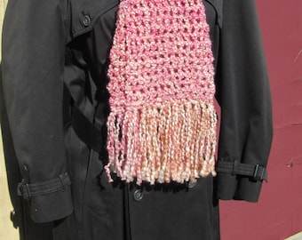 Pink Scarf 88x8 Inches Extra Long Oversize Super Chunky Womans Mothers Day Birthday Gift Neckscarf Cowl Wrap Multi Color Handmade New