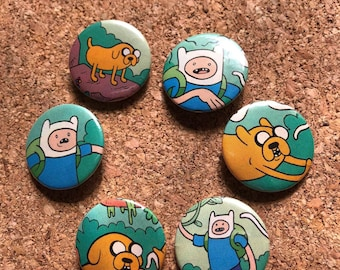 """1"""" Adventure Time Pins"""
