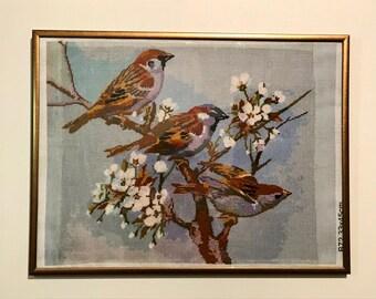 Spring Birds Cross Stitch