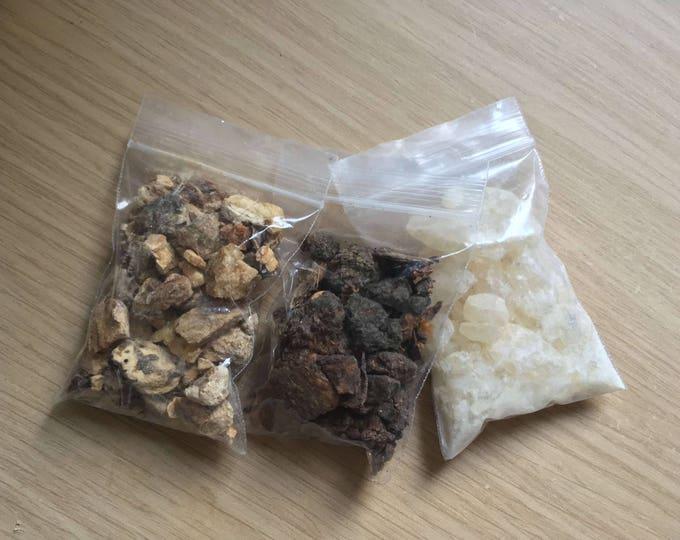 Copal Mayan + Myrrh + White Copal Resin Incense Kit