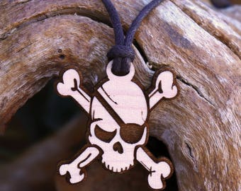 Skull Bones Pendant Necklace - Laser Cut Homeade Engraved Women's Jewelry Gifts