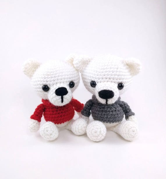 Pattern polar bears crochet polar bear pattern amigurumi dt1010fo