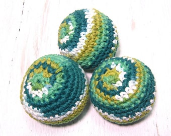 Cotton dryer balls, reusable dryer accessories, London, Ontario, home and living, laundry supplies, zero waste, crocheted, eco friendly