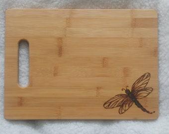 Dragonfly wood burning cutting board