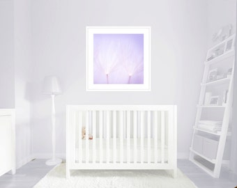 Baby wall art - Little girl room art - Dandelion Art Decor  - Baby lilac Nursery Print - Dandelion Macro Photo - Baby Art