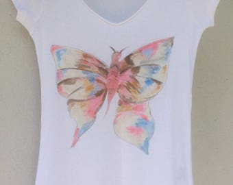 """""""Butterfly effect"""" tee shirt short sleeves, size XS"""