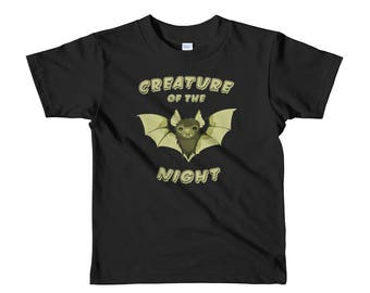 Creature of the Night T-Shirt | Goth Kids Clothes | Punk Kids | Bat Shirt | Alternative Kids | Horror Kids | Toddler Shirt | Halloween Shirt