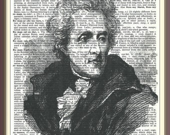 Andrew Jackson 7th U.S. President///Vintage Dictionary Art Print---Fits 8x10 Mat or Frame