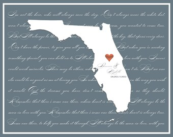 Valentines Day | Wedding | Anniversary | Couple State & City Print Download