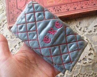 Victorian silk purse pocketbook, wallet, letter case