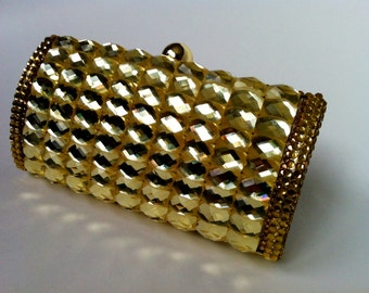 Gold Evening Purse Adorned With Baguettes