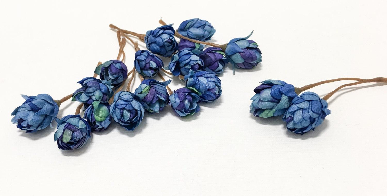 Artificial blue hops blossoms artifial flowers silk flowers 799 izmirmasajfo
